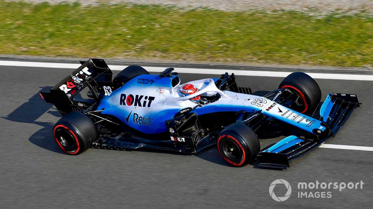 George Russell at Barcelona Feb 2020 testing