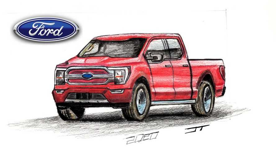 2021 Ford F-150 Electric Pickup Truck Charges To Life In New Render