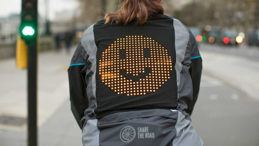 Ford emoji jacket helps drivers and cyclists communicate
