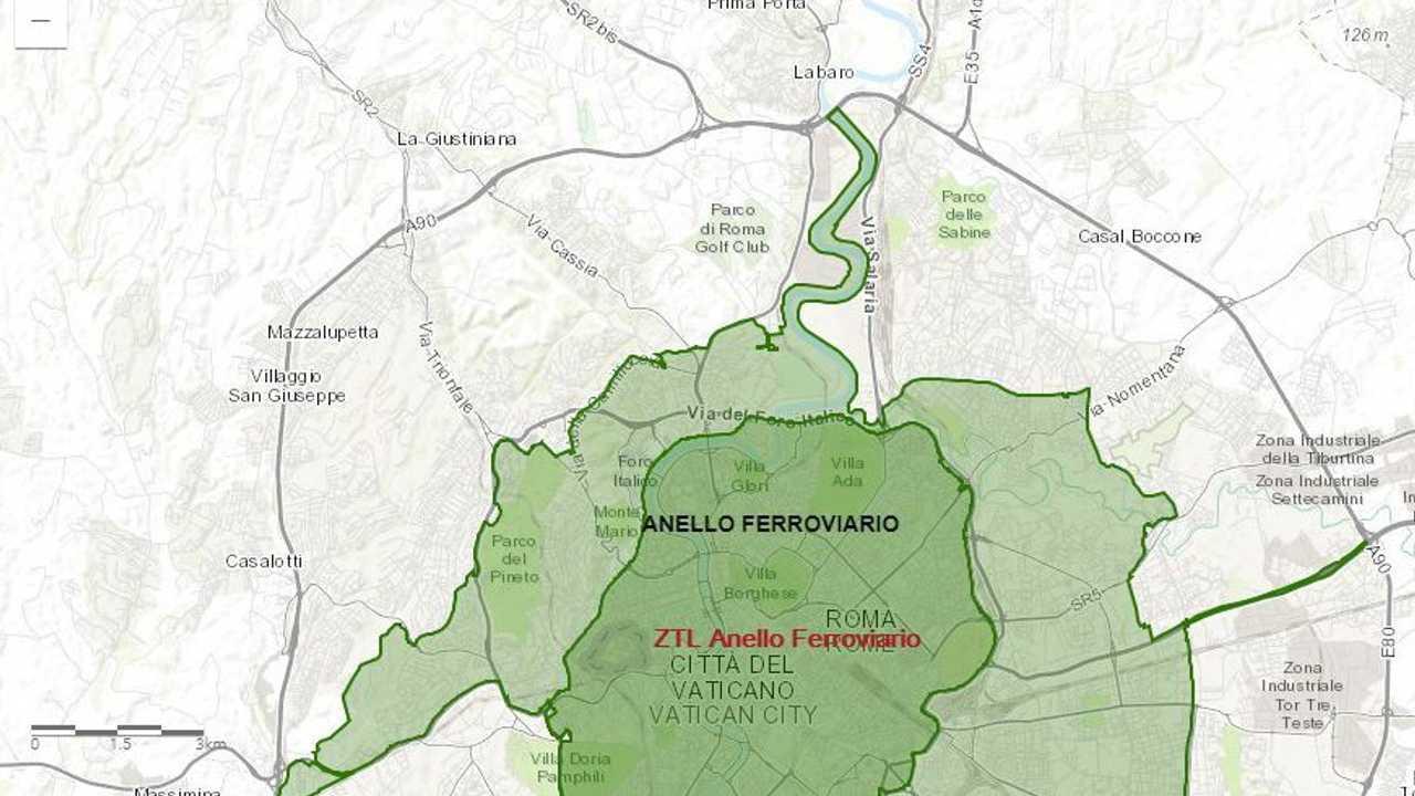 Cartina Dettagliata Fascia Verde Roma.Blocco Del Traffico A Roma Le Zone Interessate Mappa