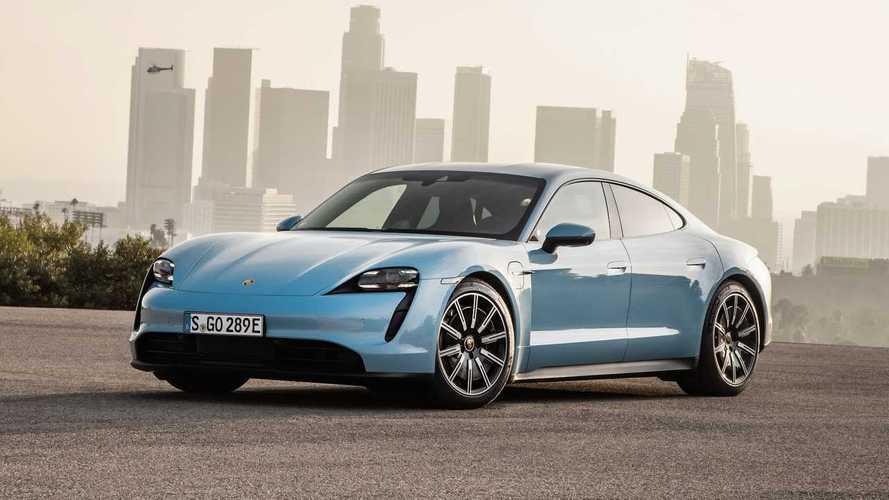 Porsche Taycan 4S im Reichweitentest bei 70 mph (rund 110 km/h)