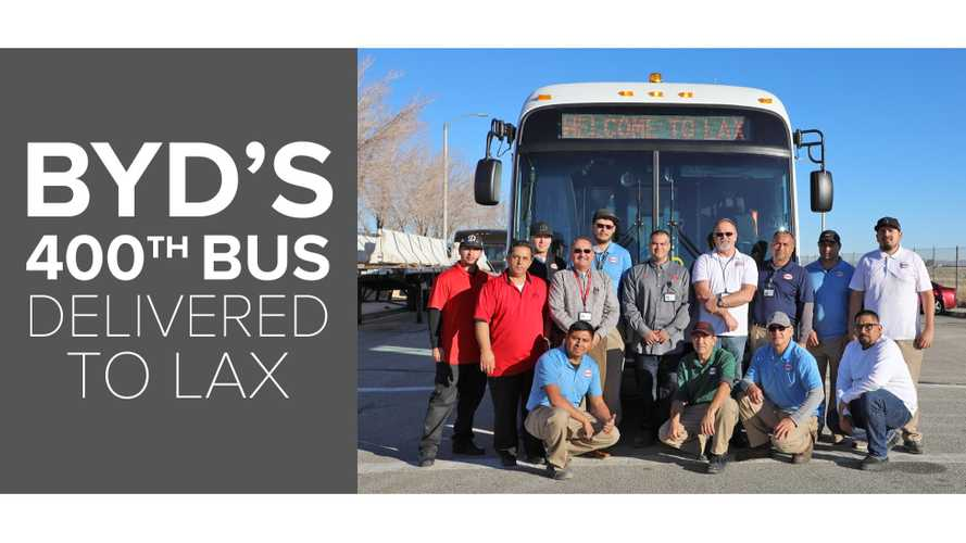 BYD Produced Its 400th Bus In Lancaster, California