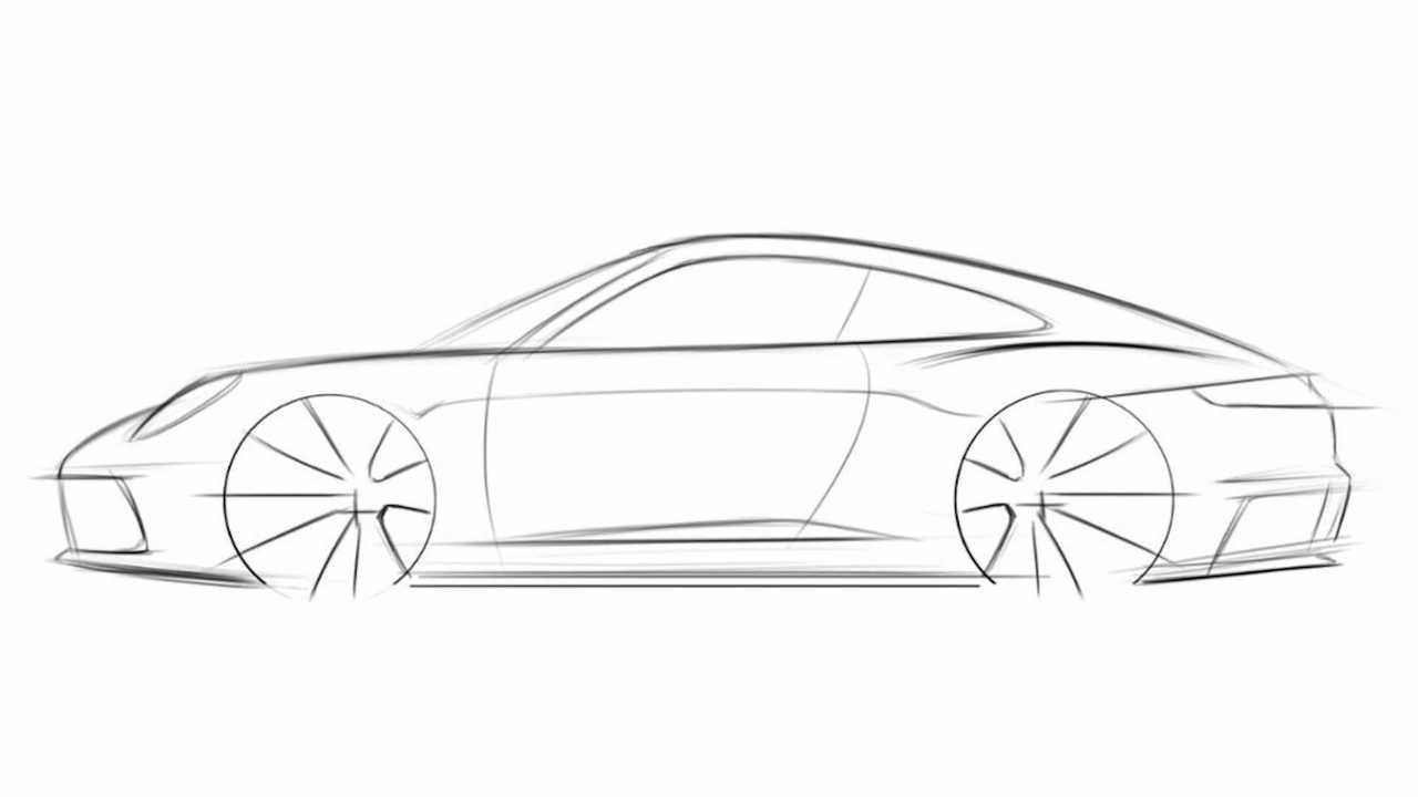 How To Draw A Porsche 911 - Step 4
