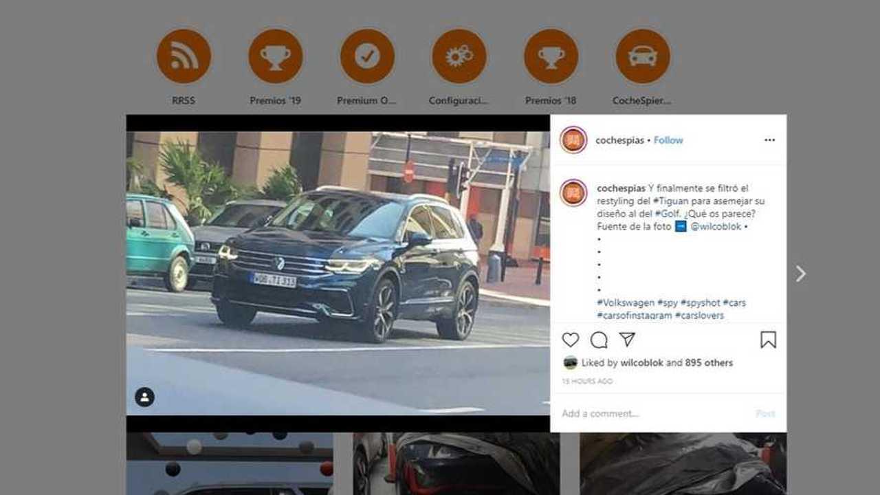 2021 VW Tiguan facelift spy photo