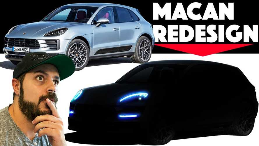 2021 Porsche Macan EV rendered with Taycan influences