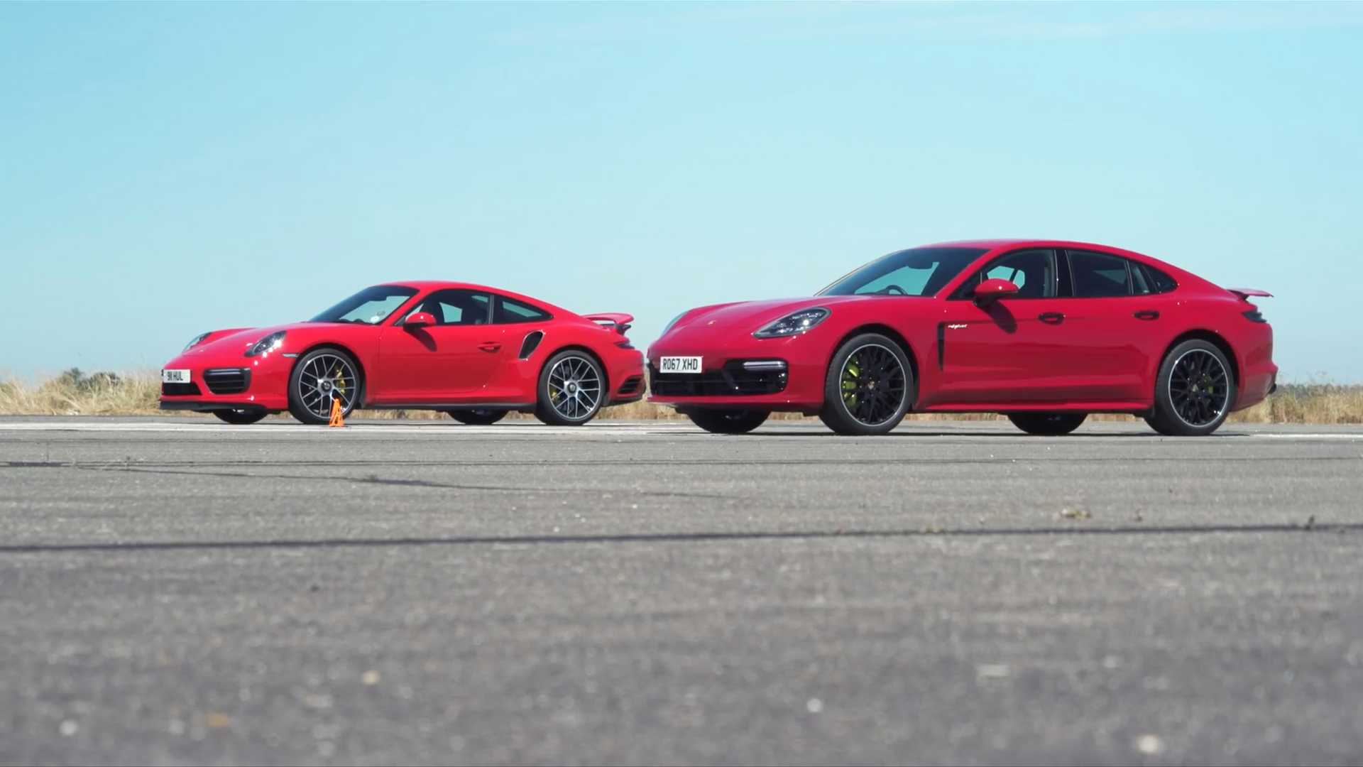 Porsche Panamera Turbo S E Hybrid Drag Races The 911 Turbo S