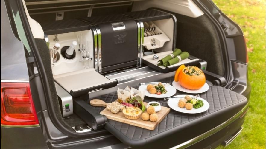 Bentley Bentayga, nel bagagliaio il necessario per un picnic