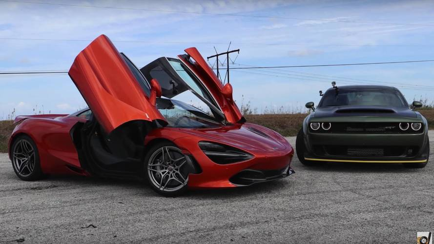 Watch The Dodge Demon Take On A McLaren 720S In A Drag Race