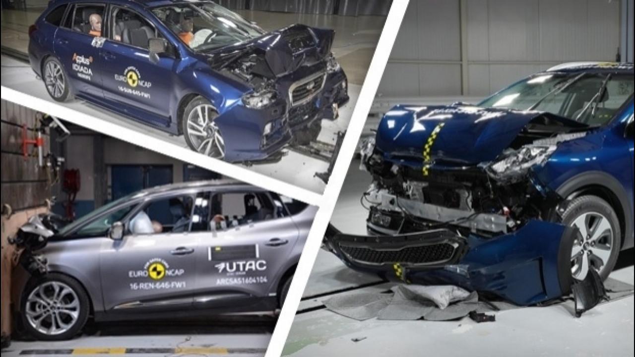 [Copertina] - Euro NCAP: i risultati per le nuove Kia Niro e Renault Scenic