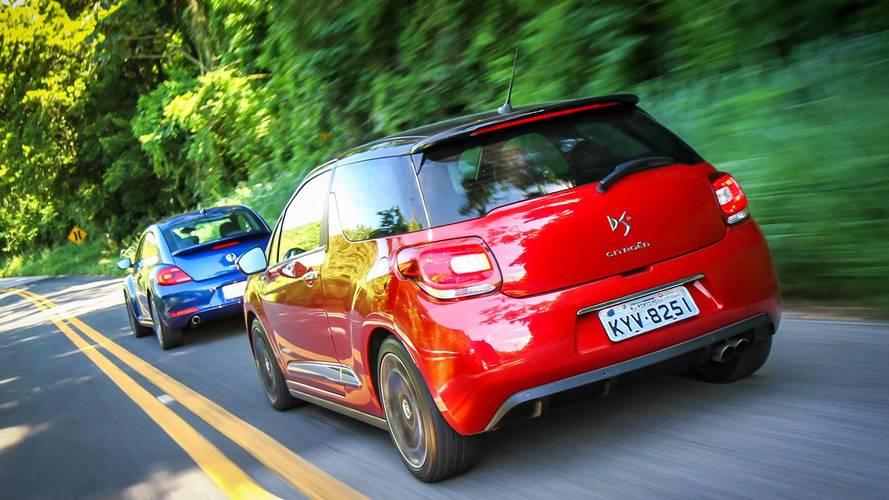 Volkswagen Fusca e Citroën DS3