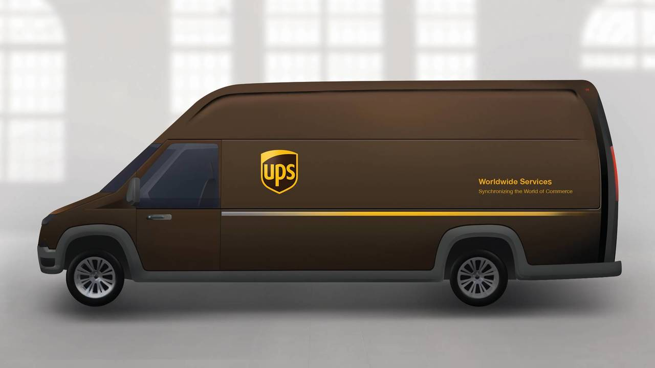 UPS Electric Delivery Truck Rendering