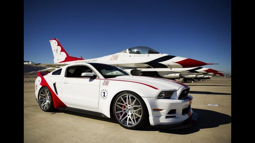 """Galeria: Mustang """"avião"""" é leiloado por US$ 400 mil; veja versões do carro inspiradas na aviação"""