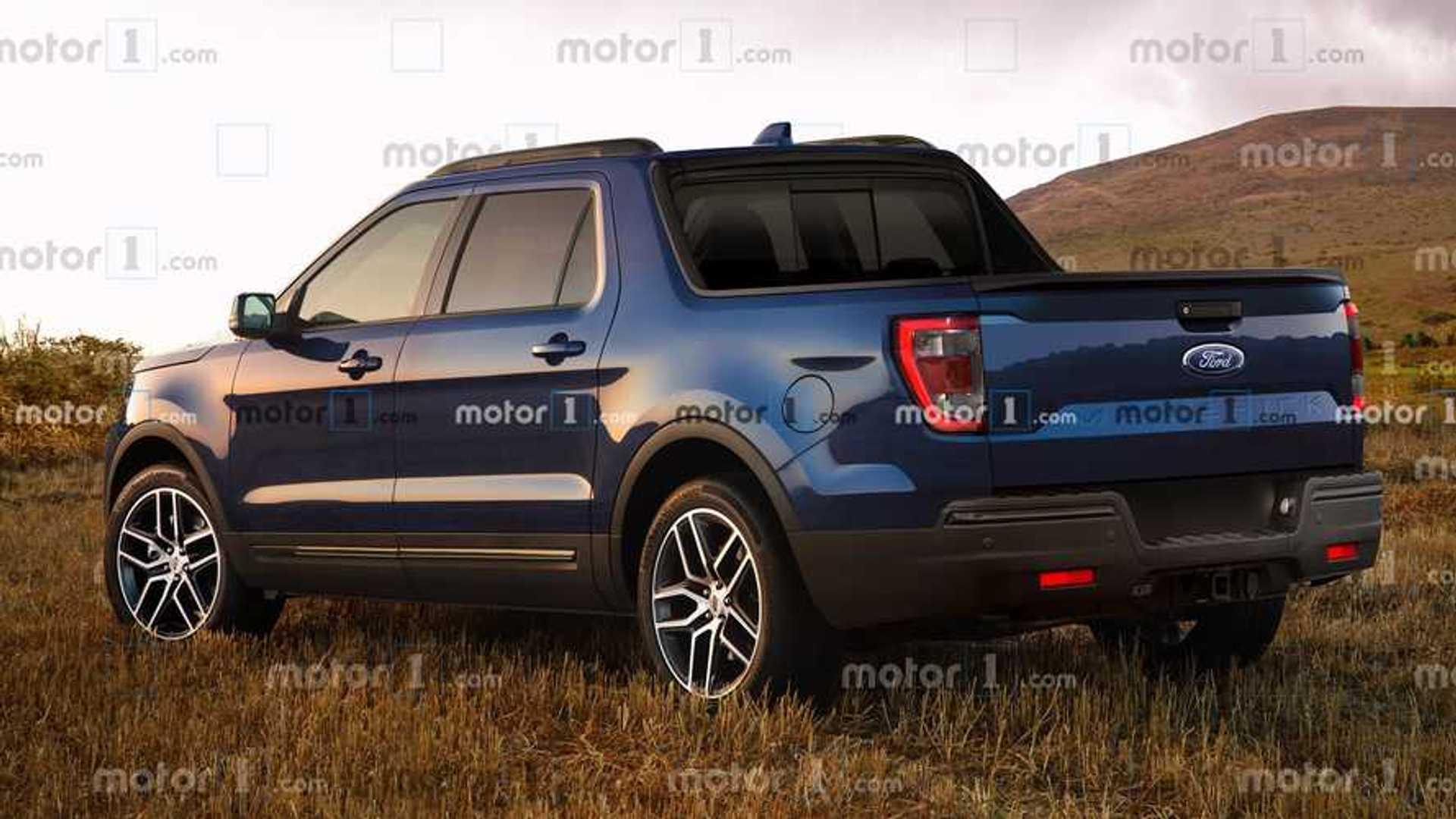 2020 - [Ford] Pickup  Ford-maverick-renderings-rear-3-4
