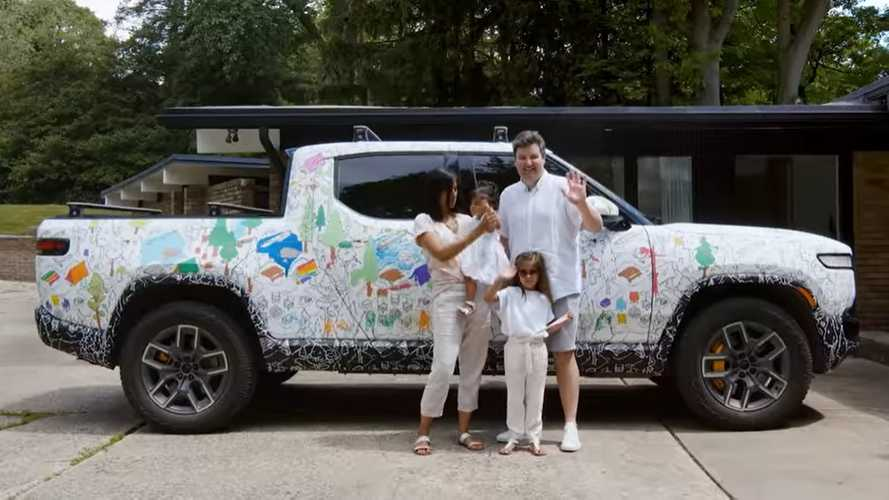 Rivian Takes The R1T Electric Pickup Truck On A Colorful Family Adventure