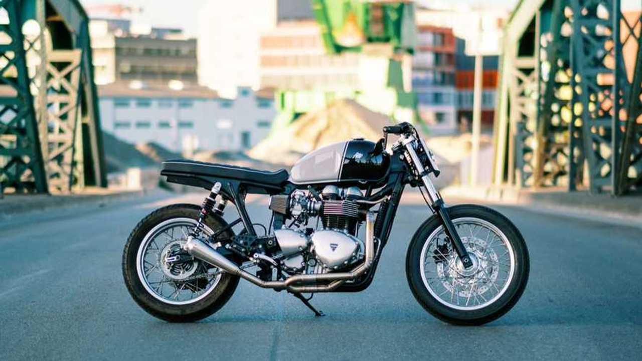 AMP Motorcycles Custom Triumph Thruxton Street Tracker