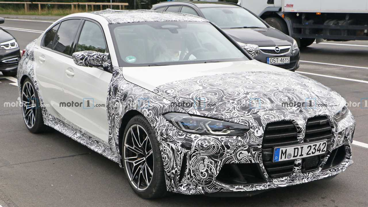 BMW M3 Spy Shots Front Three Quarters 2