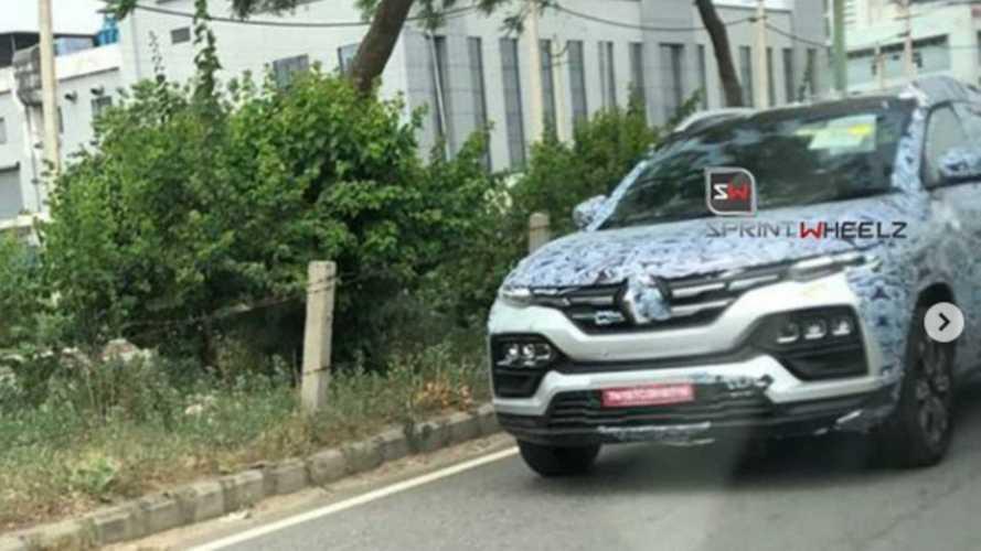 Revelado! Renault Kiger, SUV do Kwid, aparece limpo e mostra dianteira ousada