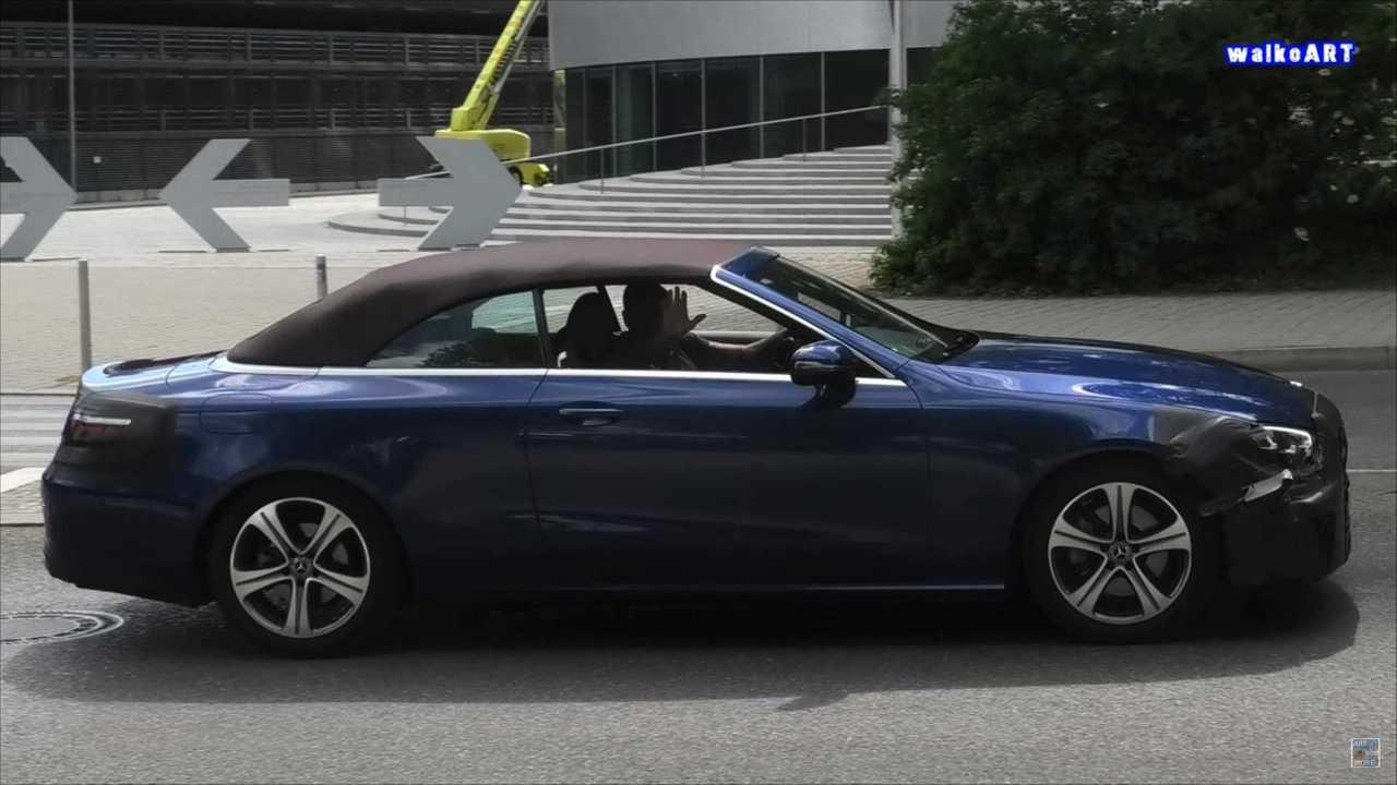 2021 Mercedes E-osztályú átalakítható faceliftes képernyőkép kém videóról