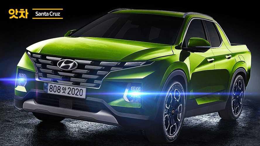 2021 Hyundai Santa Cruz rendering in green