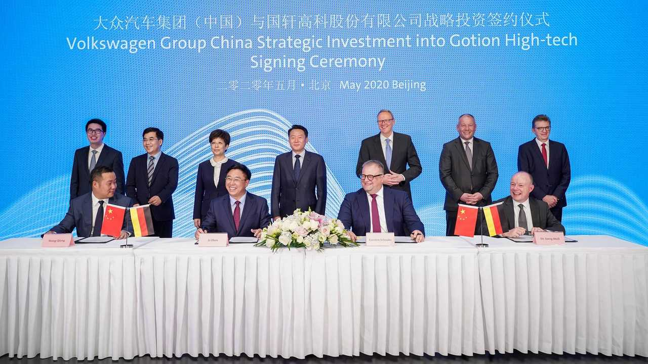 Volkswagen Confirms Investments In JAC Motors And Guoxuan Battery Maker