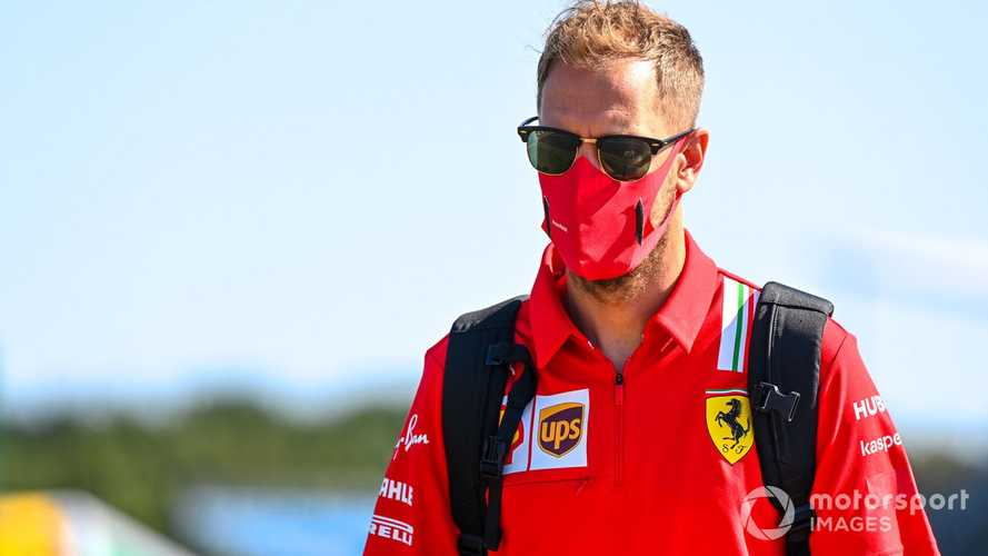 Sebastian Vettel at British GP 2020