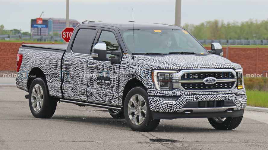 2021 Ford F-150 Platinum Spy Shots Show Unique Grille, Posh Interior