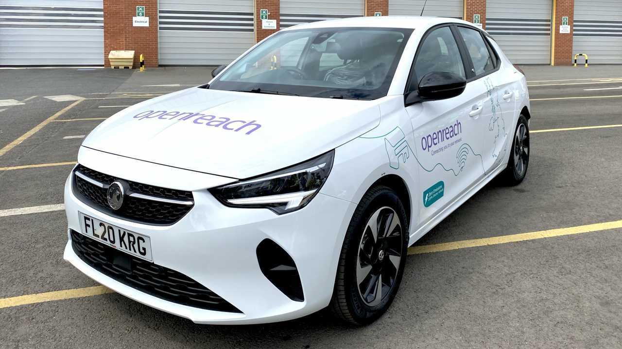 Vauxhall Corsa-e in Openreach fleet