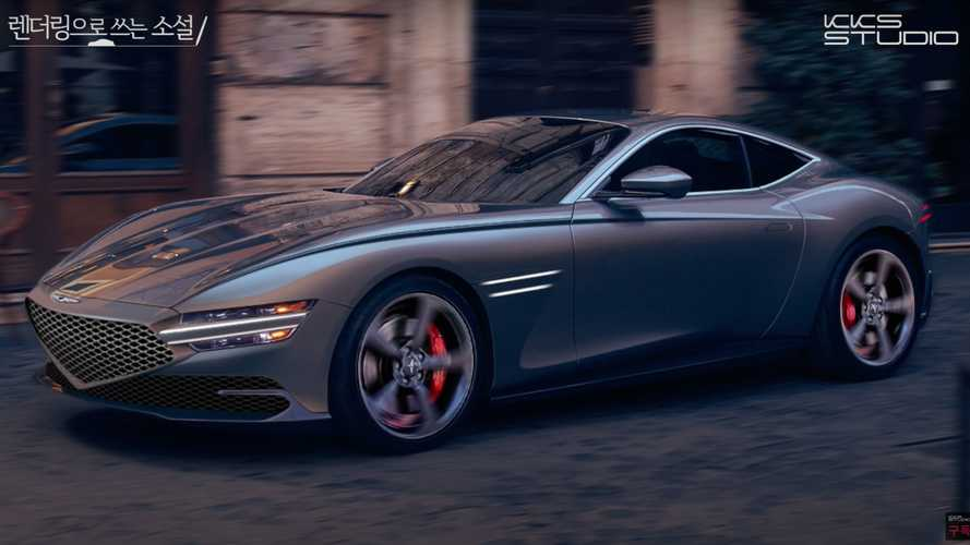 Genesis GT70 Coupe Rendering Previews A Good-Looking Grand Tourer