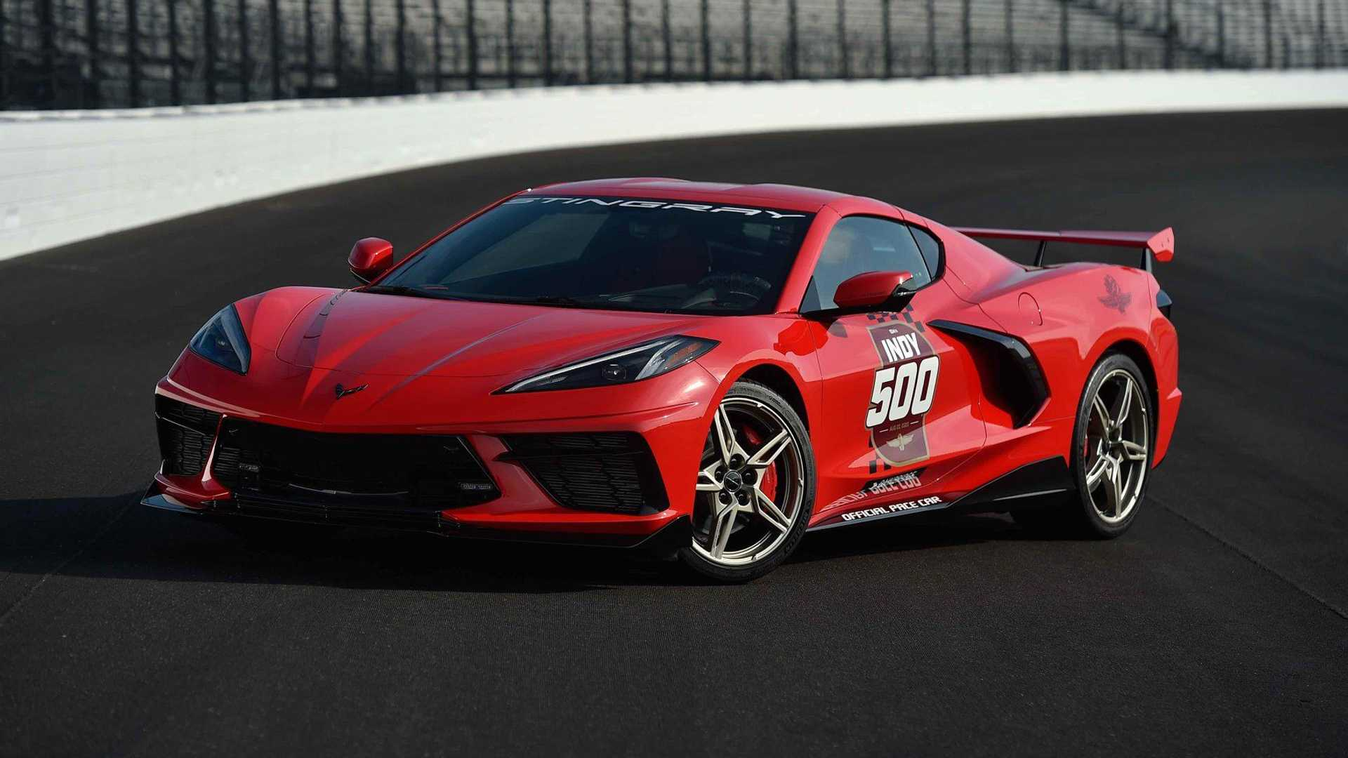 2019 - [Chevrolet] Corvette C8 Stingray - Page 7 2020-chevy-corvette-c8-indianapolis-500-pace-car-front-end