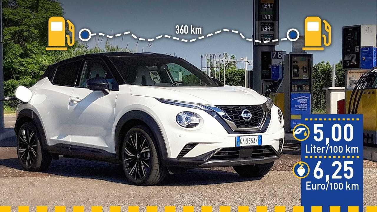 Nissan Juke (2020) im Verbrauchstest