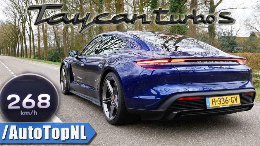 """Ilyen az, amikor a Porsche Taycan Turbo S """"padlógázzal"""" repeszt"""