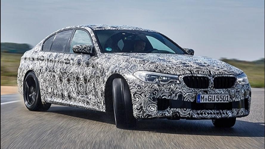 Nuova BMW M5, in un attimo da trazione integrale a posteriore