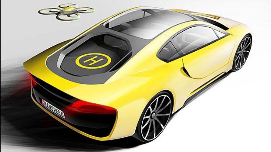 Rinspeed Ʃtos, autonoma e col drone
