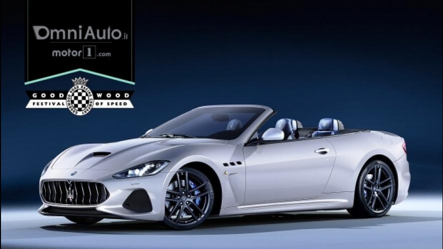 Maserati GranCabrio restyling, debutto in società a Goodwood 2017