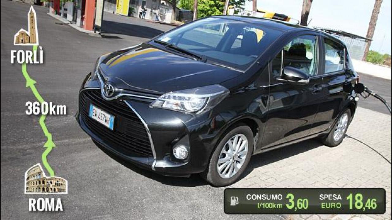 [Copertina] - Toyota Yaris 1.4 D-4D, la prova dei consumi reali