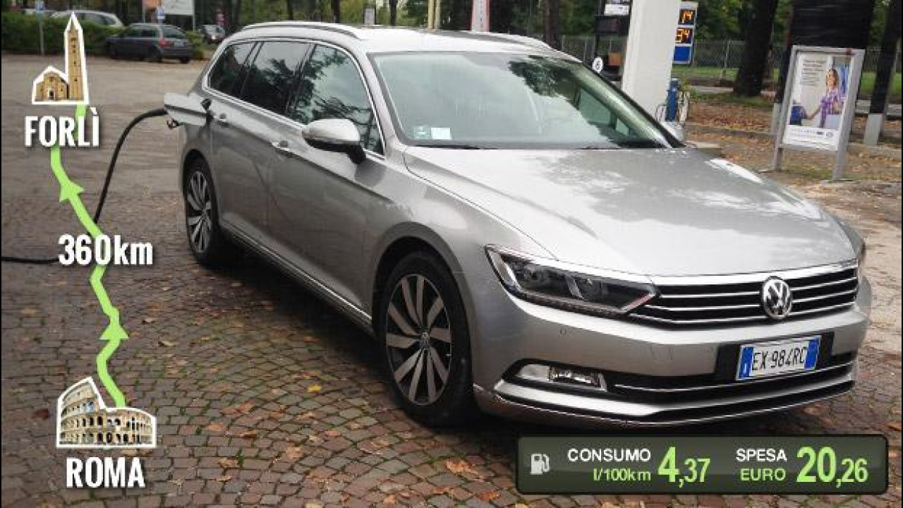 [Copertina] - Volkswagen Passat Variant 2.0 TDI, la prova dei consumi reali