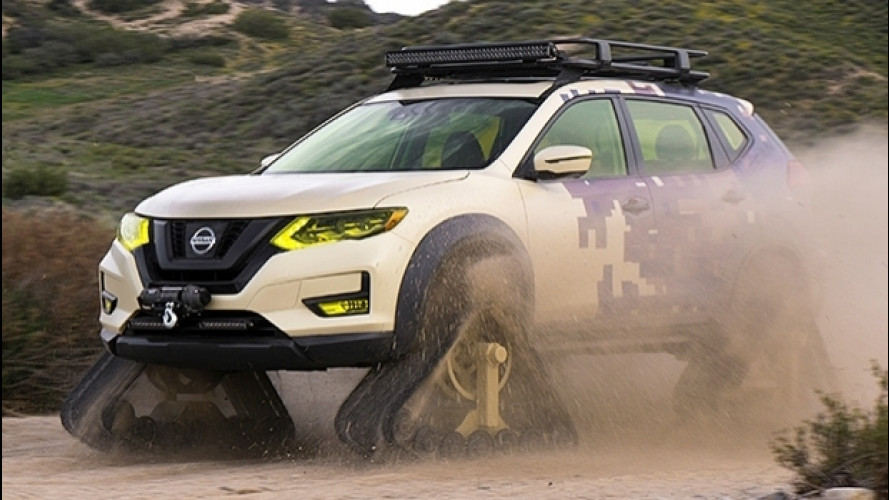 Nissan X-Trail, cingolata per il deserto [VIDEO]