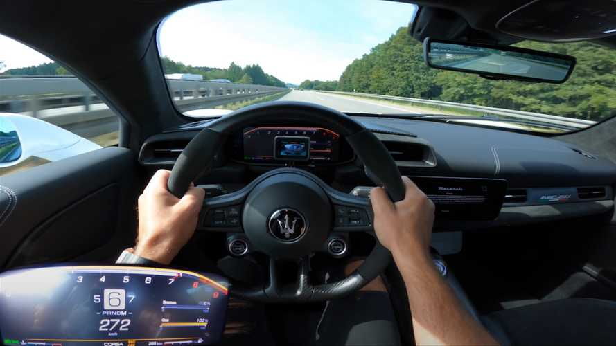 Watch the Maserati MC20 go flat-out on the German Autobahn