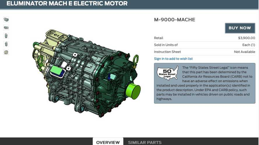 Ford Performance Electric Crate Motor Makes 281 HP, 317 Lb-Ft