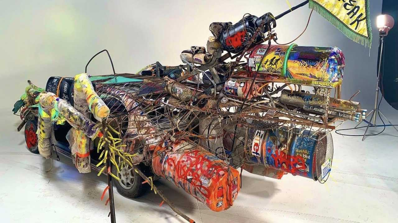 Carcroach, a Motor City survivor, built for Black Rock by Ryan C. Doyle