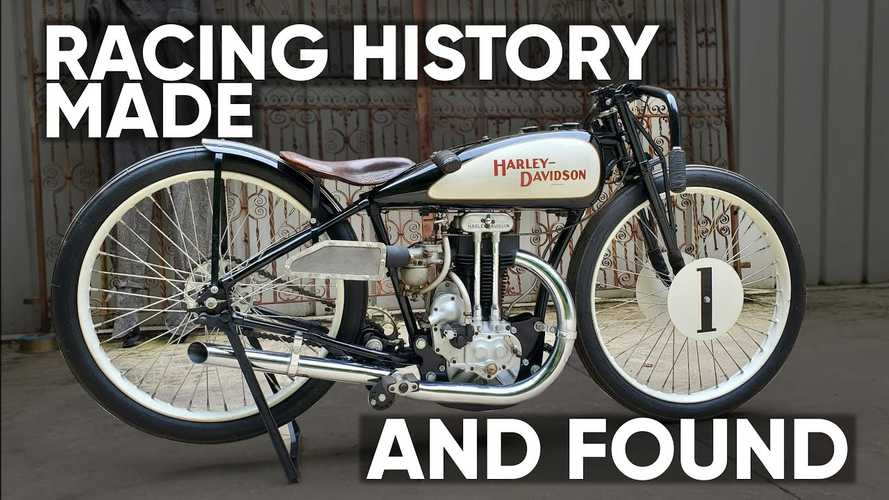 Watch Wheels Through Time Get Speechless With Rare Harley Race Bike