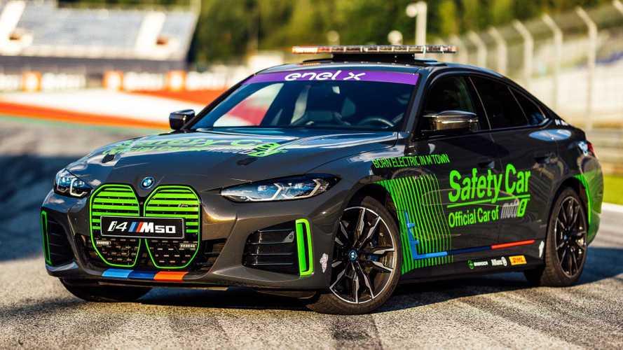 La BMW i4 M50 Safety Car fait ses débuts à la Coupe du monde MotoE
