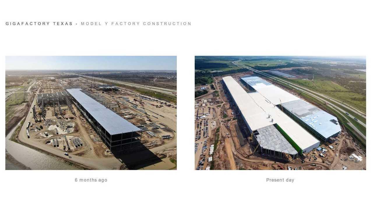 Tesla Giga Texas (Gigafactory 5) - Model Y factory construction (Tesla Q2 2021 report)