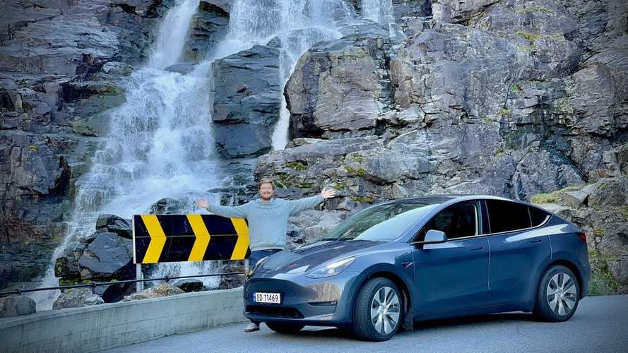 We drive China-made Tesla Model Y in Norway's amazing mountains