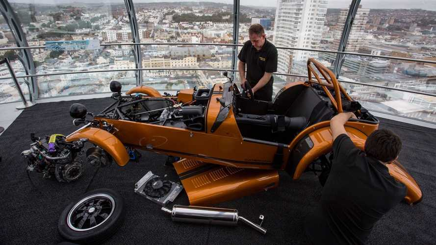 Caterham Seven 170 assembled in six hours at nearly 500 feet in the air