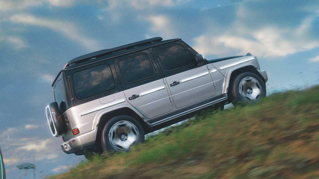 Mercedes-Benz Concept EQG Side  View