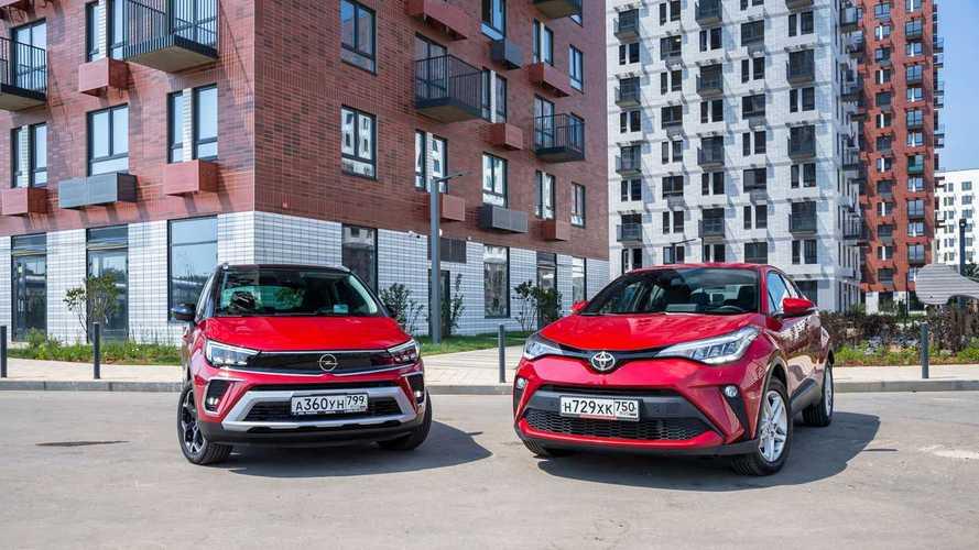 Opel Crossland против Toyota C-HR