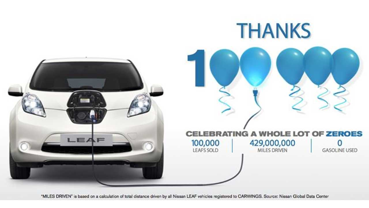 Nissan LEAF: 429 Million Miles Driven- Zero Emissions - 0 Gallons of Gas