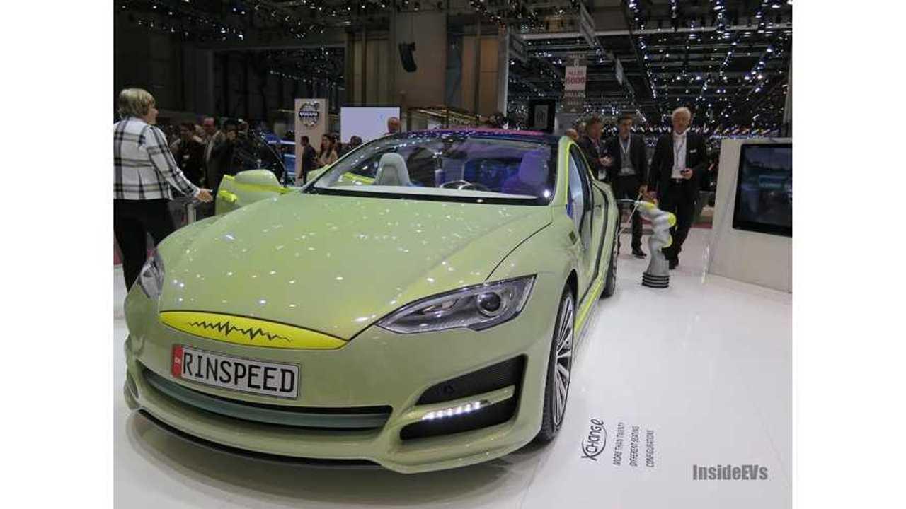 Tesla Model S Rinspeed autonomous Geneva 14