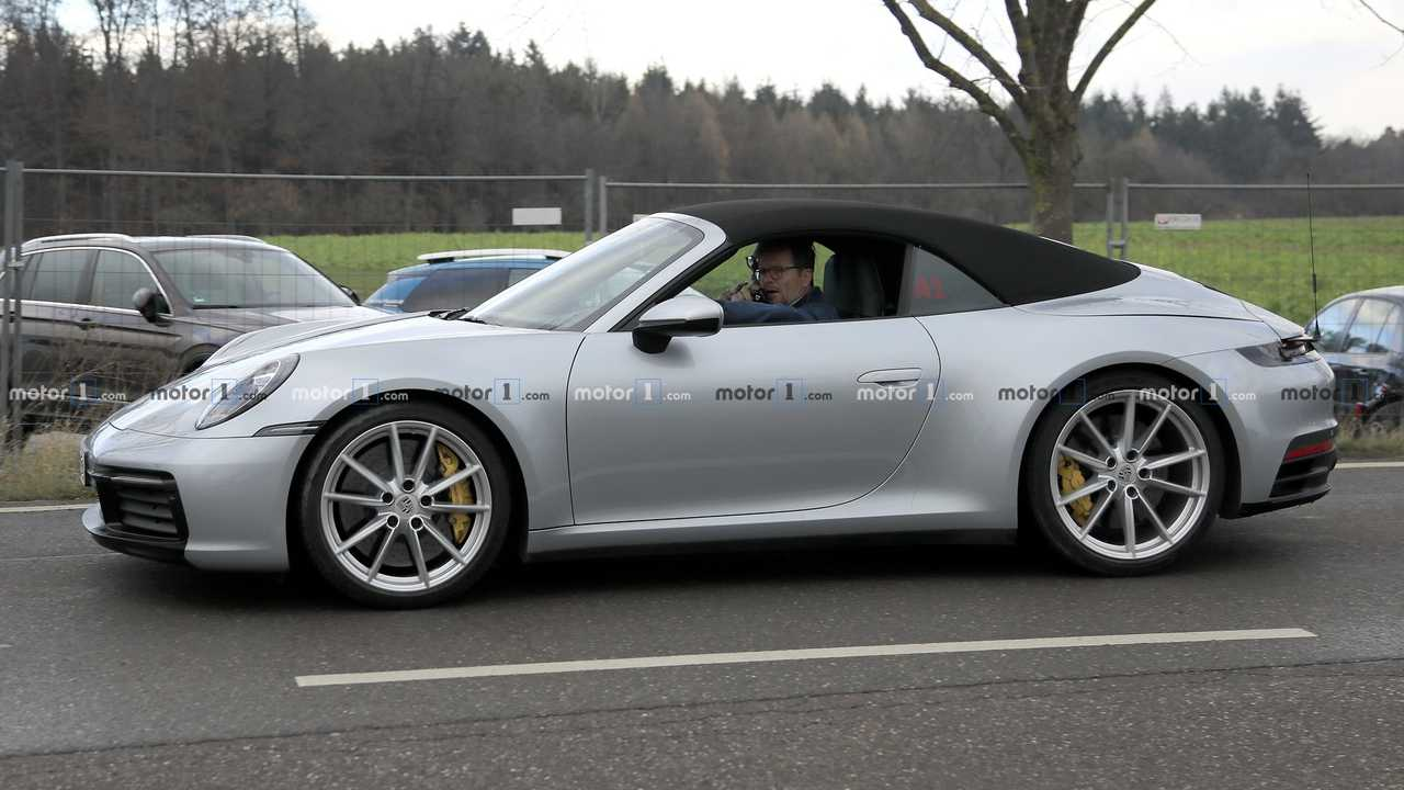 Porsche 911 992 Cabriolet fotos espía